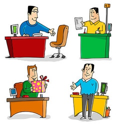 Workers in the Office vector image vector image