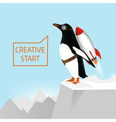 Creative start and creative idea concept vector image