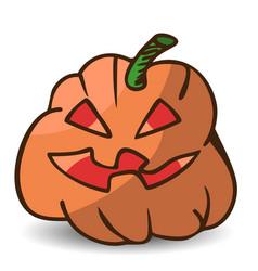 funny cartoon halloween pumpkin vector image