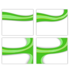 green wave - business templates vector image vector image
