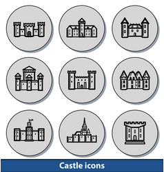light castle icons vector image vector image