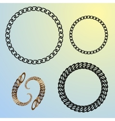 round chains set frames vector image