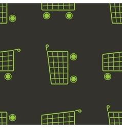 shopping cart seamless pattern Marketing vector image vector image