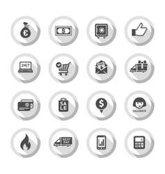 Shopping flat icons set 01 vector image vector image