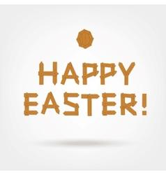 Wooden Boards Happy Easter vector image
