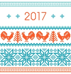 2017 New Year greeting card template vector