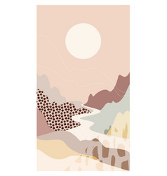 abstract mountain landscape river scenery a vector image