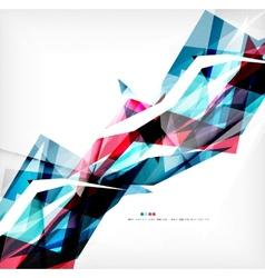 Angular geometric color shapes vector image