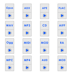 audio format icons vector image