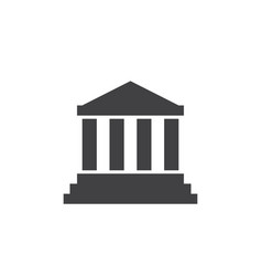 Bank institute icon logo courthouse vector