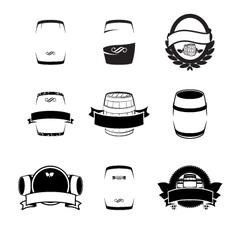 Barrels set vector