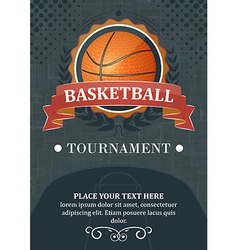 Basketball tournament background or poster design vector
