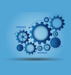 blue gear abstract background vector image