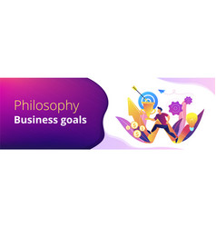 Business mission concept banner header vector