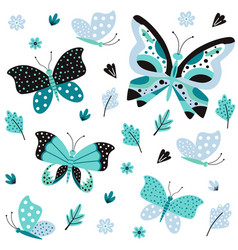 butterfly pattern pretty springtime nature vector image