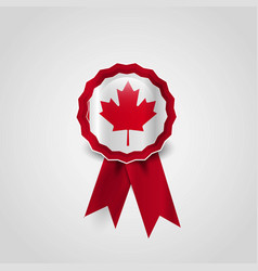 canada flag badge design vector image