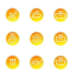 Car heating icons vector