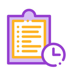 clipboard tablet with tasks thin line icon vector image