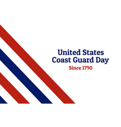 coast guard day holiday background with national vector image