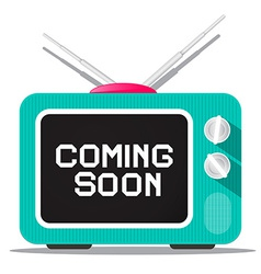 Coming Soon Sign on Retro TV Screen vector image