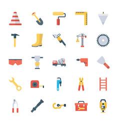 Construction tools flat vector