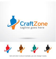 Craft zone logo template design vector