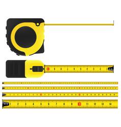 creative of tape measure vector image