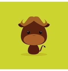 Cute Cartoon Wild bull vector