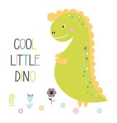 cute funny dinosaur isolated vector image