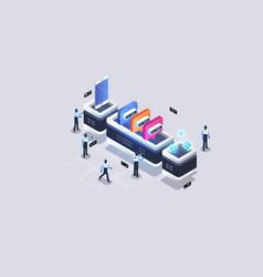 Data visualization concept data network vector