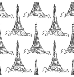 Eiffel Tower seamless background pattern vector image vector image