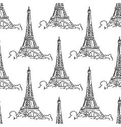 Eiffel Tower seamless background pattern vector