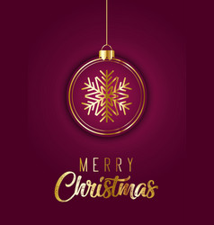 elegant christmas card design vector image