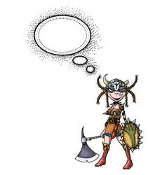 female viking-100 vector image