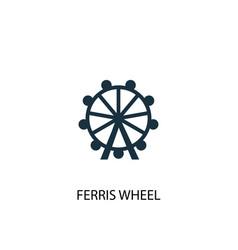 Ferris wheel icon simple element vector