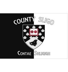 Flag county sligo in connacht ireland vector