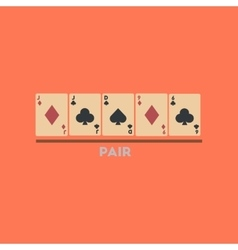 Flat icon on stylish background pair cards vector