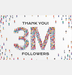 Followers group business people vector