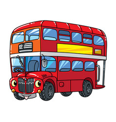 Funny small london bus with eyes vector