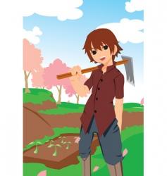 gardening vector image
