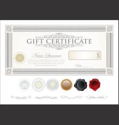 Gift certificate retro vintage template 8 vector