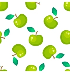 Green apple fruit seamless pattern vector image