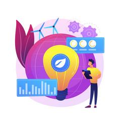Green economy abstract concept vector