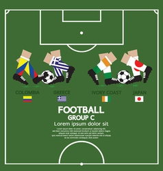 Group C 2014 Football Tournament vector image