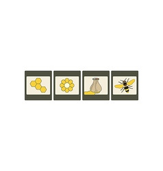 Honey Icon Set 380x400 vector image