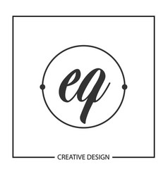 initial letter eq logo template design vector image