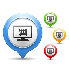 Internet Shop Icon vector image