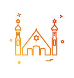 jewish temple icon design vector image