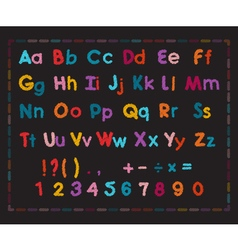 Latin alphabet with scribble effect vector image