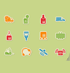 Logistics icon set vector